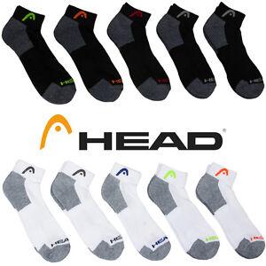 10pk HEAD Moisture Wicking Men's Ankle Athletic Sport Socks Black White 6-12.5