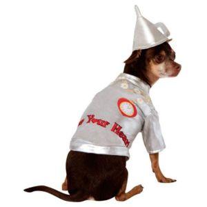 Tin Man Costume Pet Wizard of Oz Halloween Fancy Dress