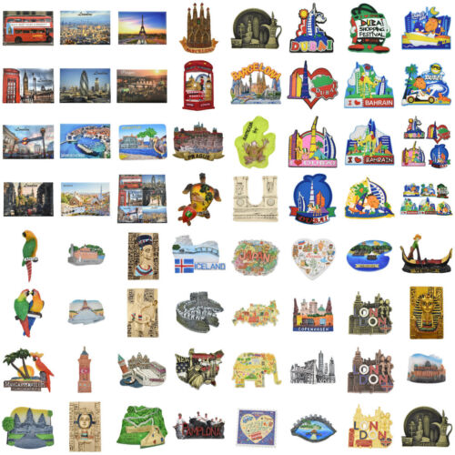Kühlschrankmagnet Kühlschrank Aufkleber London Spain Prag Reise Magnet Sticker