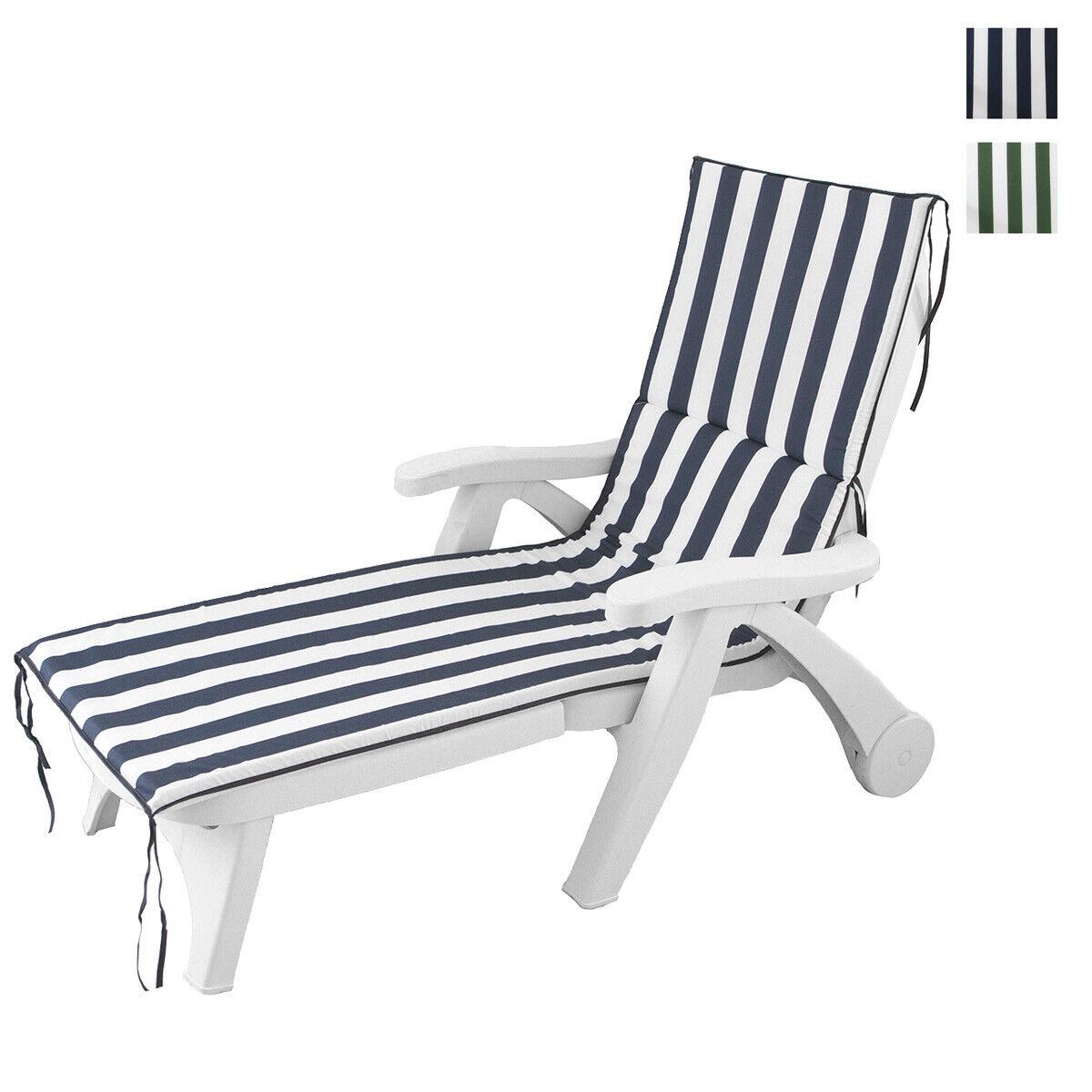 details sur coussin pour chaise longue transat l exterieur jardin raye 60x190 cm p498
