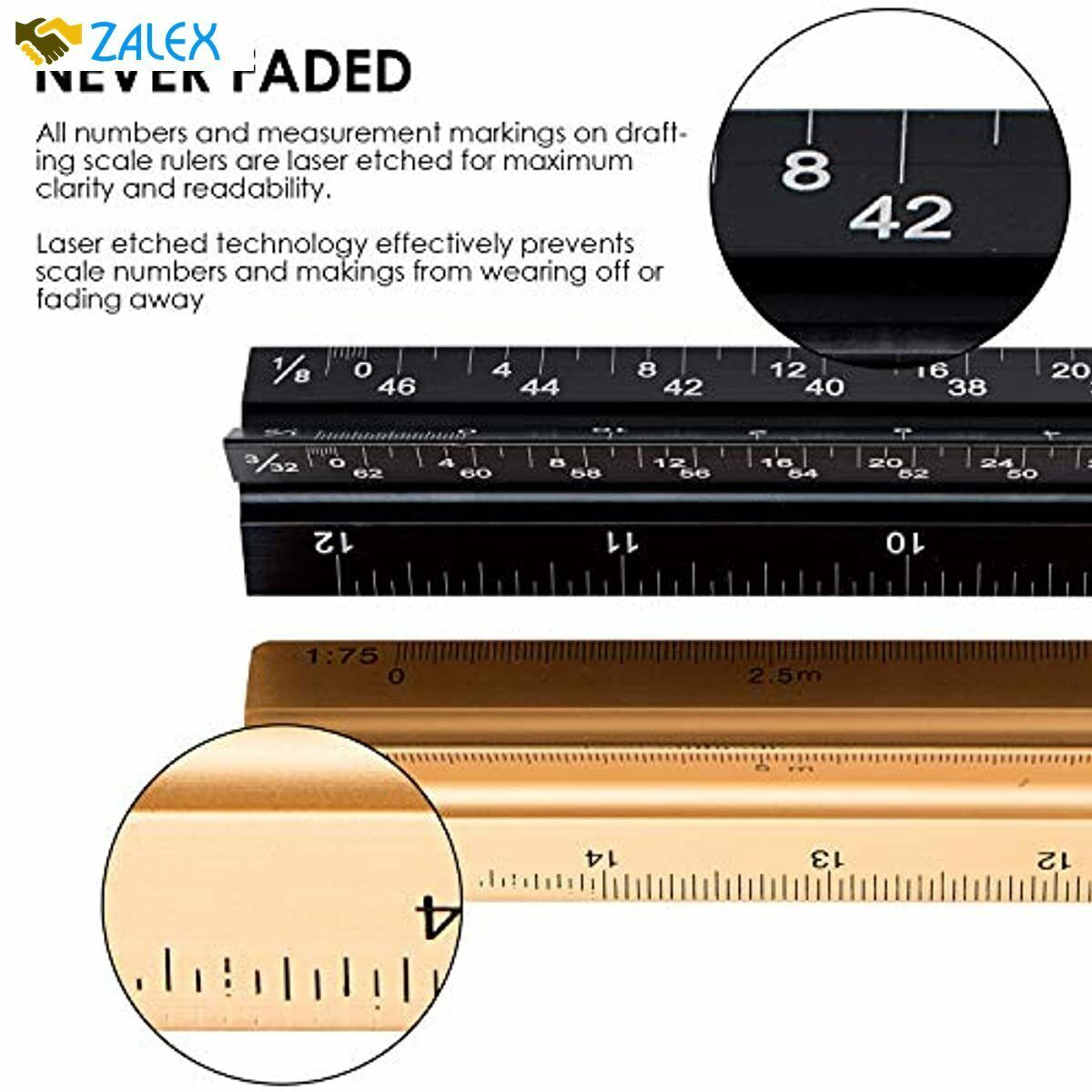 Architectural Scale Ruler Imperial Measurements 12