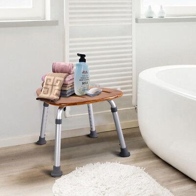 Duschhocker Duschstuhl Duschsitz Badehilfe Duschhilfe Badhocker Bambus 160KG