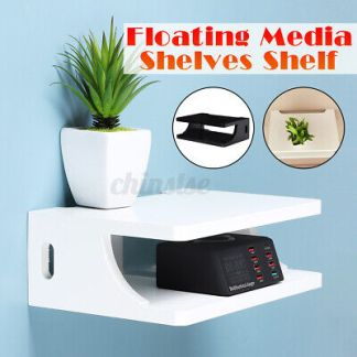 3 Tier Wall Mount TV Floating Media Stand Shelves Storage Living Roo