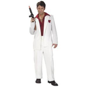 Tony Montana 1980's Drug Dealer Costume Scarface Halloween Fancy Dress