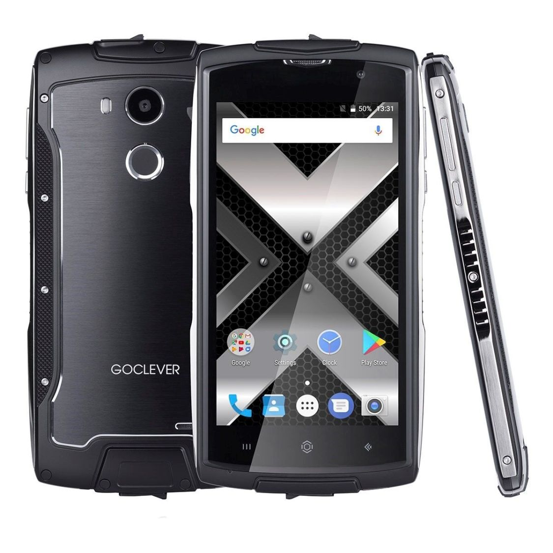 GOCLEVER QUANTUM 500 Steel RUGGED IP68 OUTDOOR HANDY 4G LTE ANDROID SMARTPHONE