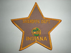 Blank Indiana Sheriff's Department Patch | eBay