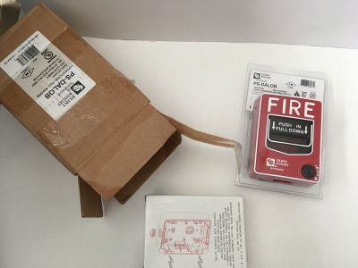 *NIB* *New* Silent Knight PS-DALOB Fire Alarm Pull Station w/ SB-I/O Backbox