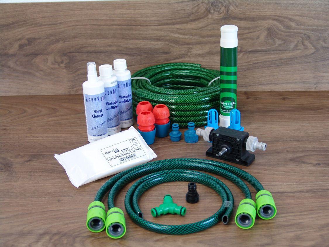 Befüllset Entleerungsset Wasserbetten Service Set Dual Mono Pflegeprodukte Pumpe