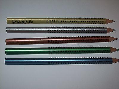 Faber Castell  Buntstift Jumbo Grip Metallic Kupfer, Blau, Grün, Silber und Gold