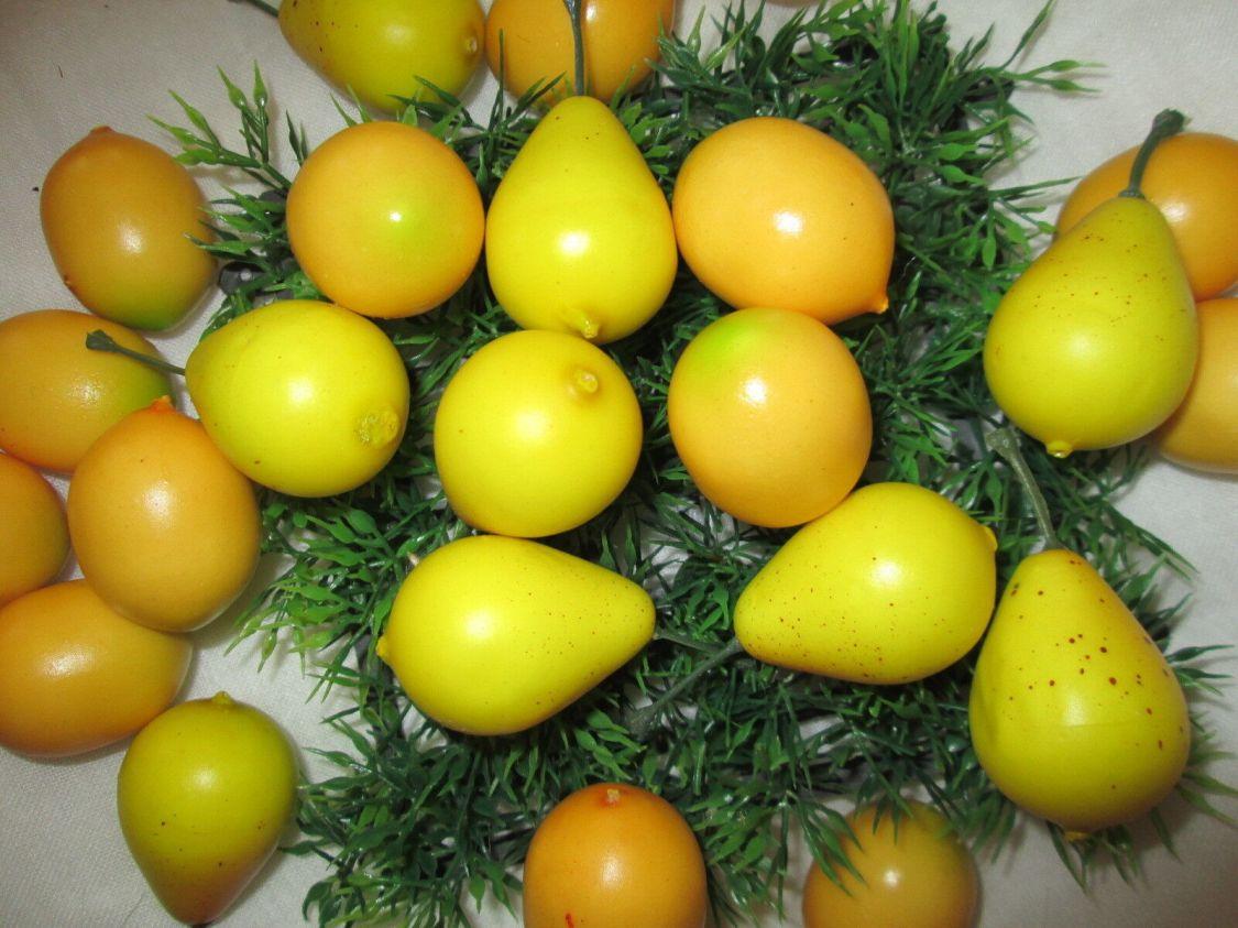 15x Mini Birnen Dekoobst Künstliche Kunst Pflanzen Kunst Obst Früchte Party Fest