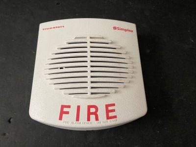 Simplex TrueAlert Fire Alarm Horn Speaker White Wall Cover Plate