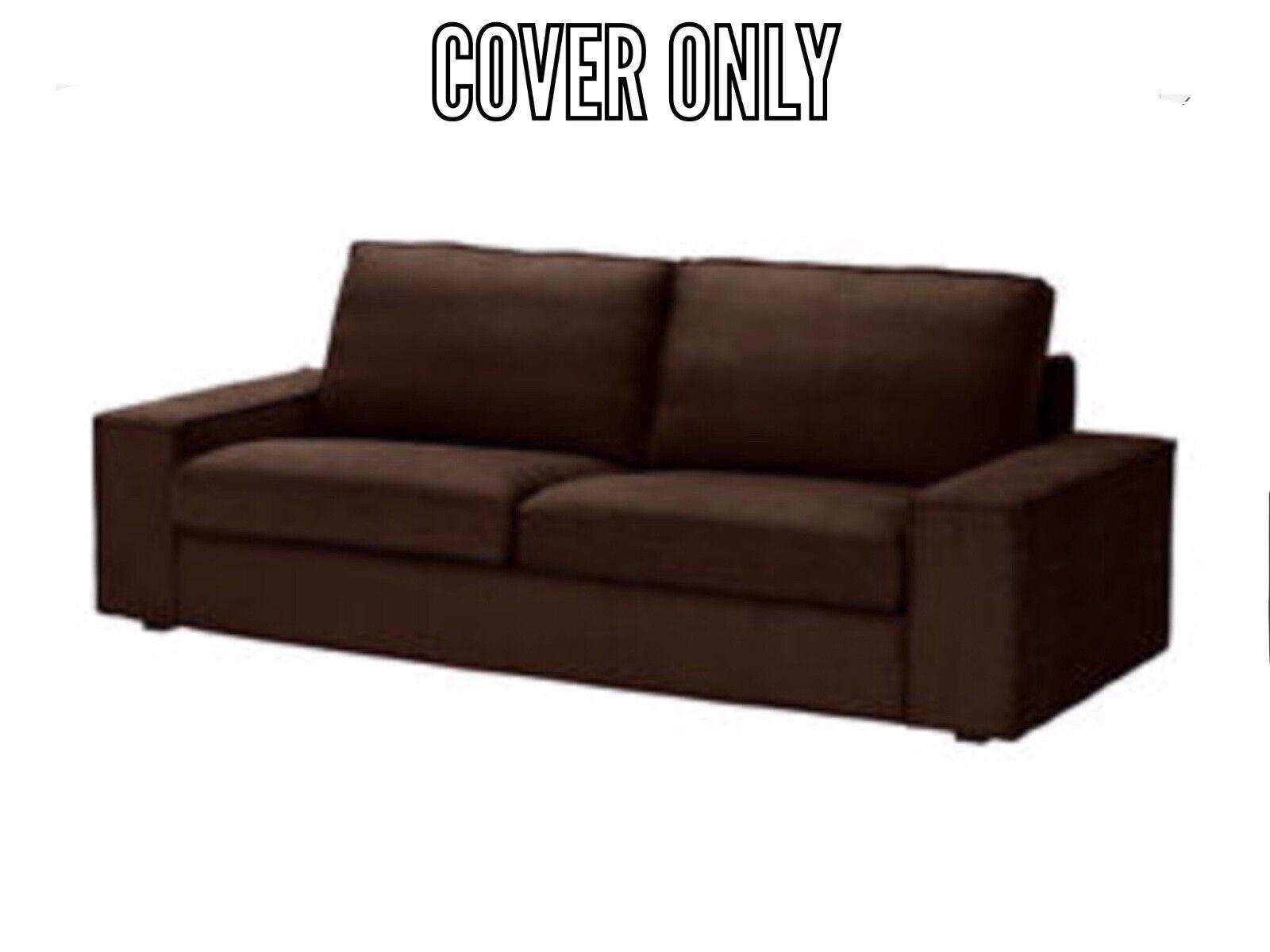 Ikea Kivik 3 Seat Sofa Cover Only Tullinge Dark Brown Slipcover 00200358