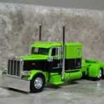 Dcp 1 64 Lime Green Black Flattop Peterbilt 389 Semi Truck Farm Toy Rockin H Farm Toys