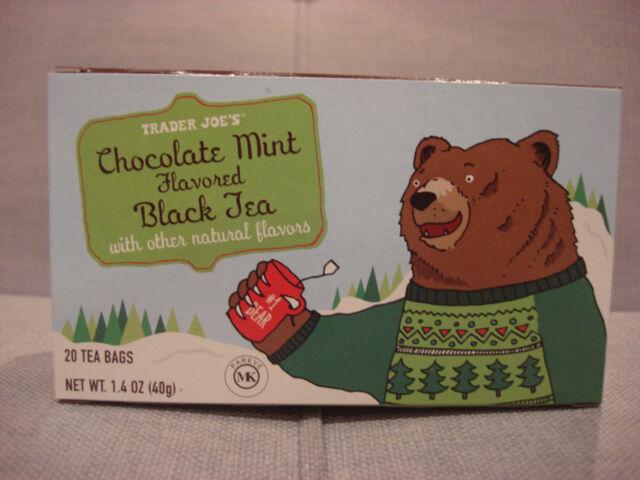 TRADER JOE'S CHOCOLATE MINT FLAVORED BLACK TEA 20 BAGS