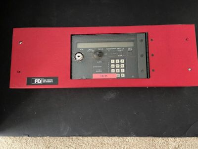 Gamewell FCI KDU-L 7200 Fire Alarm Control Panel Annunciator w/ Red Enclosure