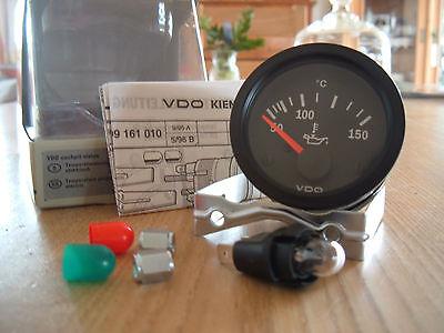 VDO Cockpit Vision Öltemperaturanzeige 50-150 ° Grad 52mm 12Volt VW Gauge Oil !!