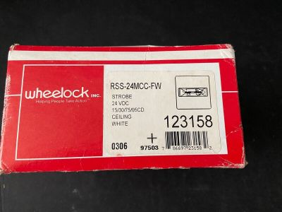 *NIB *New* Wheelock RSS-24MCC-FW Fire Alarm Remote Strobe White Ceiling