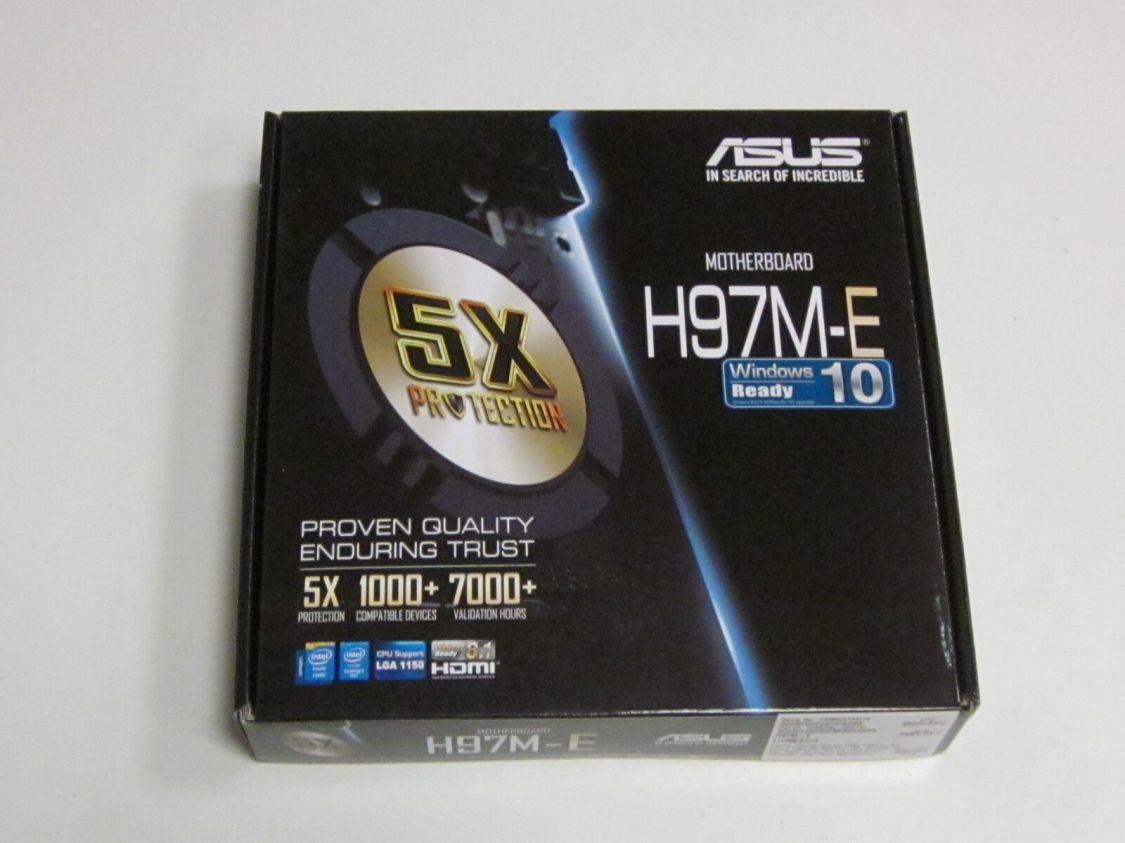 ASUS H97M-E Micro-ATX Mainboard Socket LGA1150 mit Rechnung inkl. 19% MwSt.