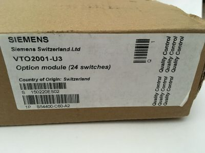 *NIB* *New* Siemens Cerberus Pro VTO2001-U3 Fire Alarm 24 Switch Option Module