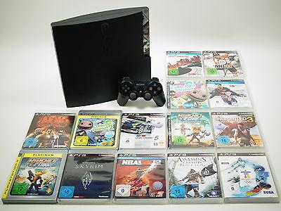 Playstation 3 Slim PS3 Konsole 320GB Komplettbundle mit 3 Spielen #A49040