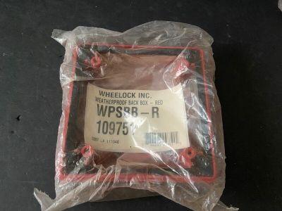 *NIB* *New* Wheelock WPSBB-R Weatherproof Fire Alarm Backbox