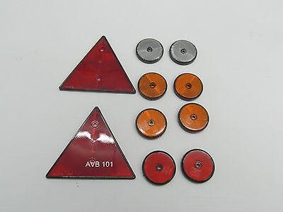 Reflektoren/ Rückstrahlerset für PKW Anhänger 10 teileg rot, orange & weiss  101