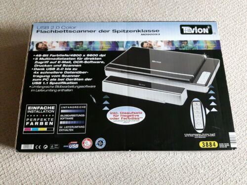 Flachbettscanner inkl. Diaaufsatz/Durchlichteinheit Tevion MD 90093 (Medion) USB