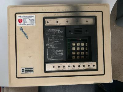 Wells Fargo SMT-4 Security System Fire Alarm Control Panel ADT