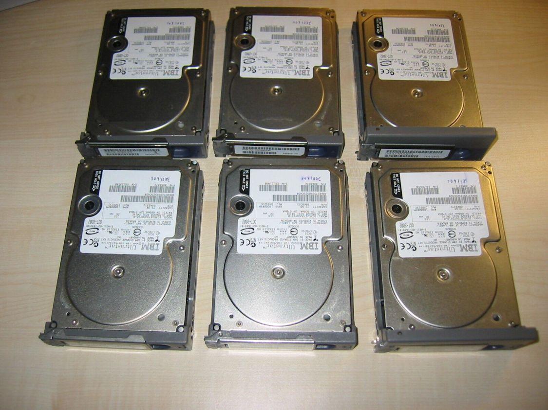 IBM 73,4 GB U320 SCSI Festplatte im Sun Ultra Einbaurahmen