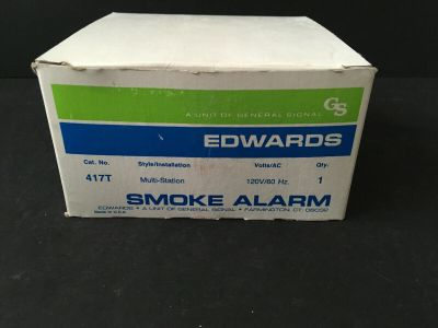 *NIB* *New* EST Edwards 417T Fire Alarm Mult-Station Smoke Detector