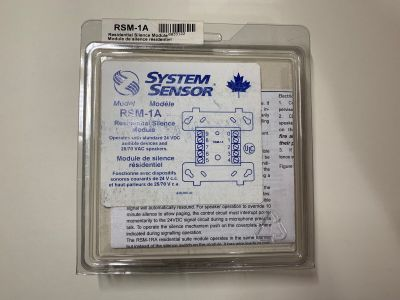 *NIB* *New* System Sensor RSM-1A Fire Alarm Residential Silence Module