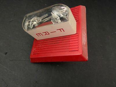 Wheelock MT-24-LSM Fire Alarm Multi-tone Horn/Strobe Wall Red