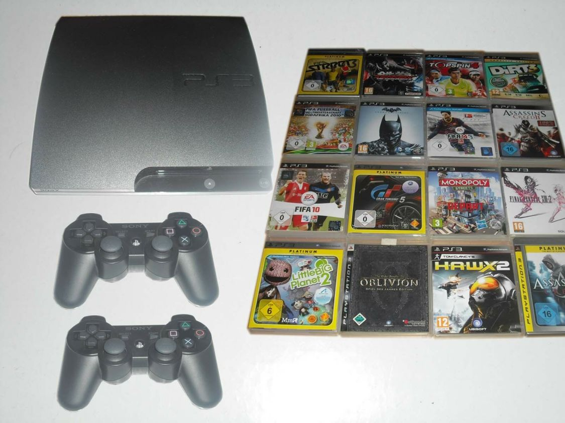 Sony PS3 Konsole + 1-2 Controller + HDMI - Playstation 3 ( 12 - 500GB )
