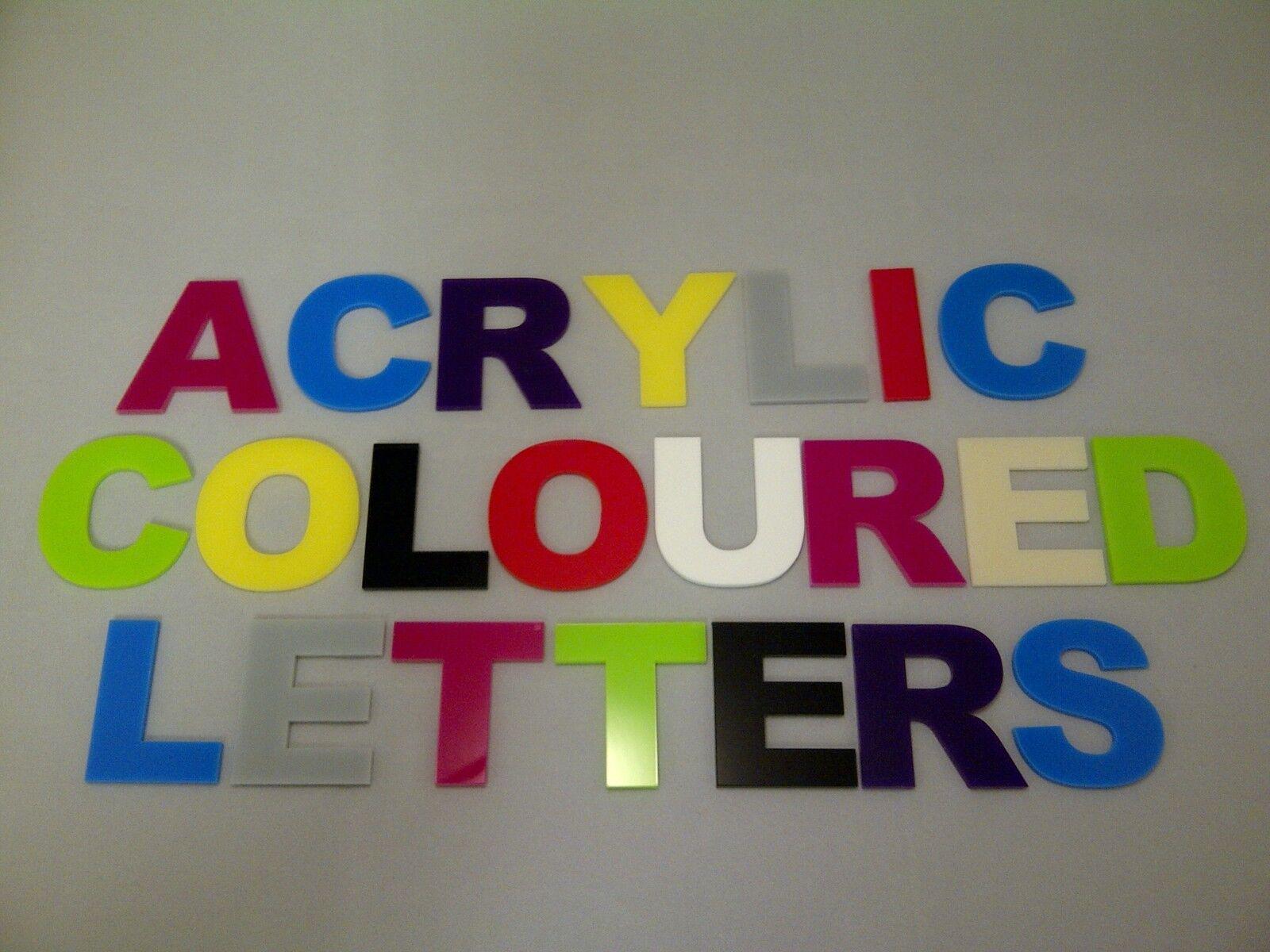 Acrylic Flat Cut Letters Alphabet Upper Case 150mm High