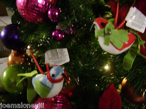 BIRD PARTRIDGE CHRISTMAS ORNAMENT LORD TAYLOR FABRIC