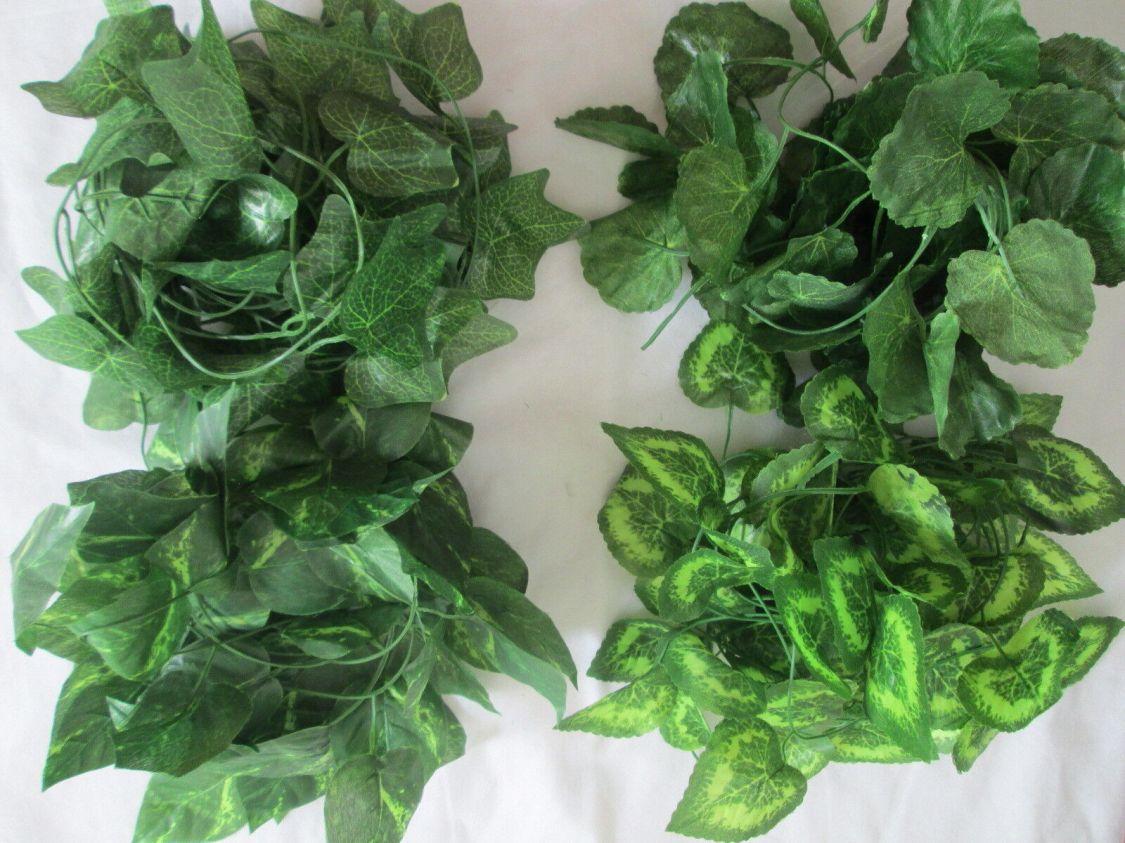 4,5m Efeuranke Deko Blätter Blatt Girlande Künstliche Kunst Pflanzen Kunst Blume