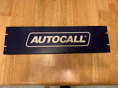 "*Vintage* *One of a Kind* Autocall Fire Alarm 19"" x 5"" Brand Metal Plate"