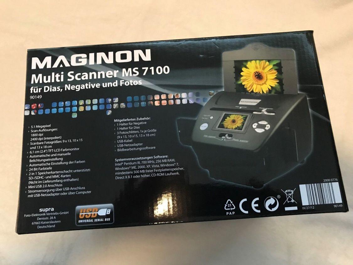 MAGINON Multi Scanner MS 7100 für Dias Negative und Fotos wie neu 5MP