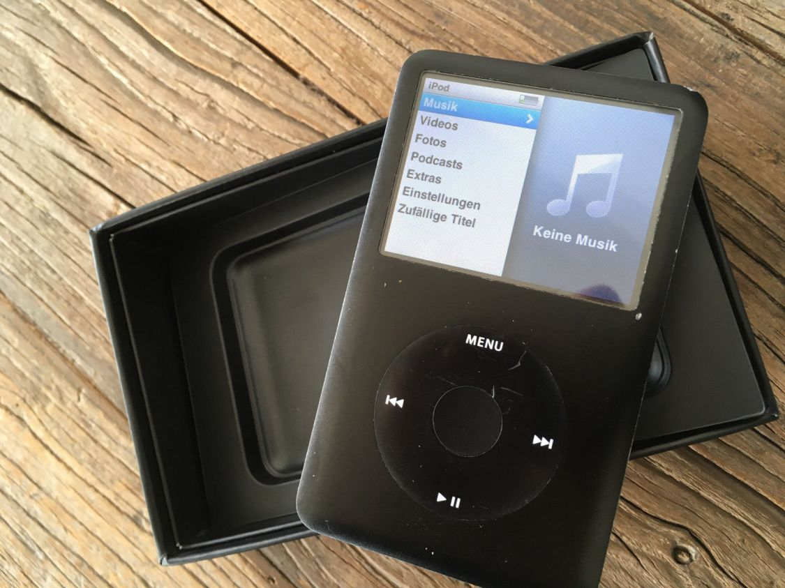Apple iPod classic 6. Generation Schwarz (80GB) mit OVP, wenig benutzt
