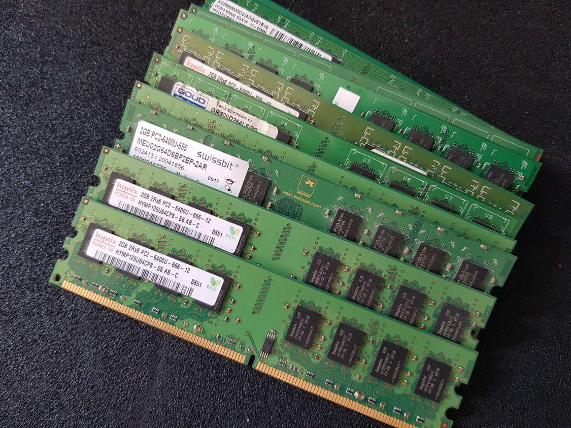 2GB DDR2 RAM 4200U (533MHz) 5300U (667MHz) 6400U (800MHz)  PC Desktop Speicher