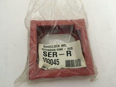 *NIB* *New* Wheelock SER-R Fire Alarm Extension Ring Red Backbox
