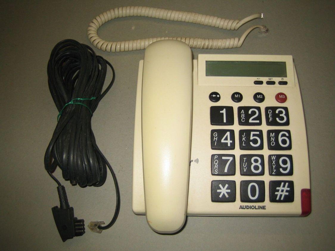 Seniorentelefon 'Audioline Tel48 G', Wand-Tischtelefon, gebraucht
