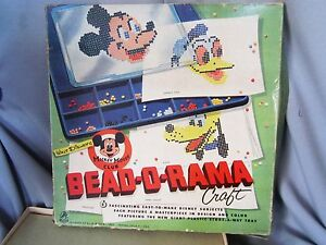 Walt Disney's Mickey Mouse Club Bead-O-Rama craft by Hasbro