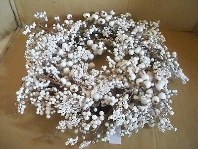 Dekokranz Hochzeitskranz Weiße Beeren, D ca :58 cm  Neu