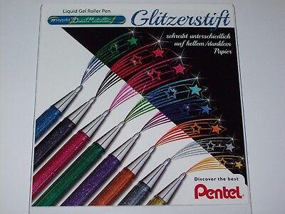 Pentel Gel Tintenroller Glitzerstift Hybrid Dual Metallic mit Farbenwechsel
