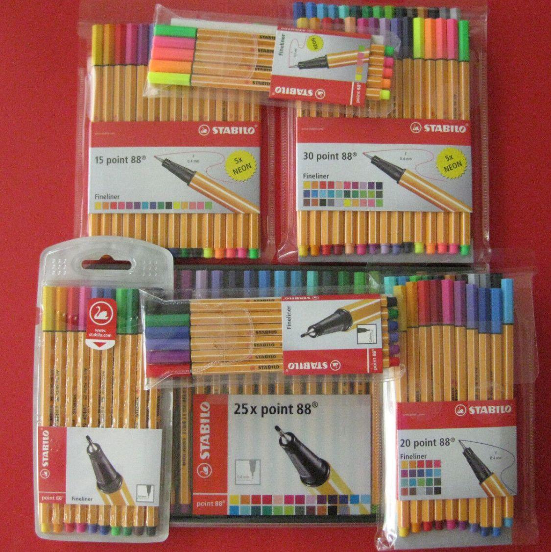 Stabilo Point 88 Fineliner Tintenschreiber Set 5 6 10 15 20 25 30 Stifte Sets