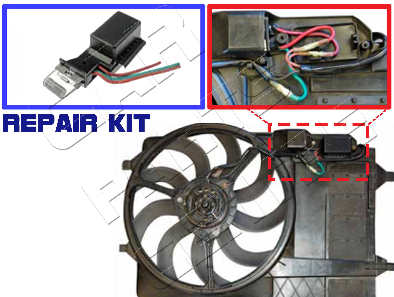 FOR MINI ONE COOPER S 16 R50 R53 COOLING RADIATOR FAN
