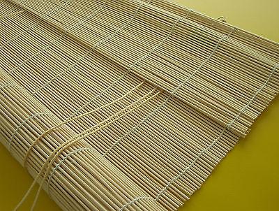 Bambus Vorhang Natur Bambusrollo Holzrollo Sichtschutz Rollo Kordel Stäbchen