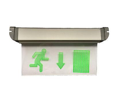 Notausgang Schild Exit LED Notleuchte Fluchtweg Licht Beleuchtung Ausgang unten