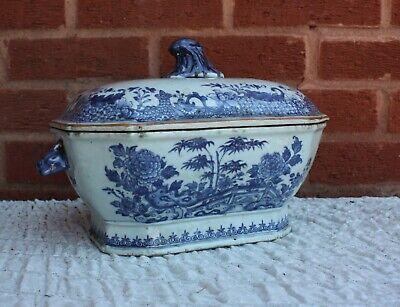 18th Century Chinese Blue and White Tureen Qianlong Period